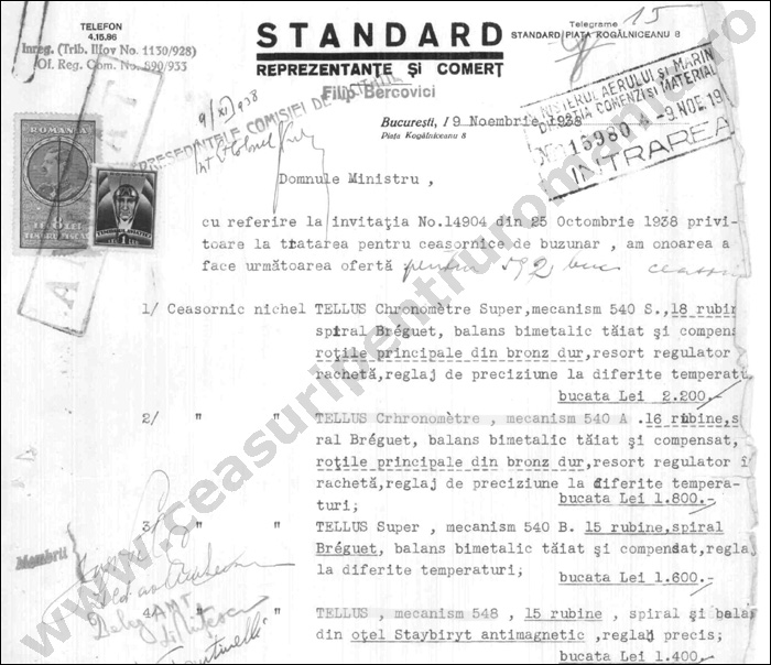 document Standard 1938 | 1