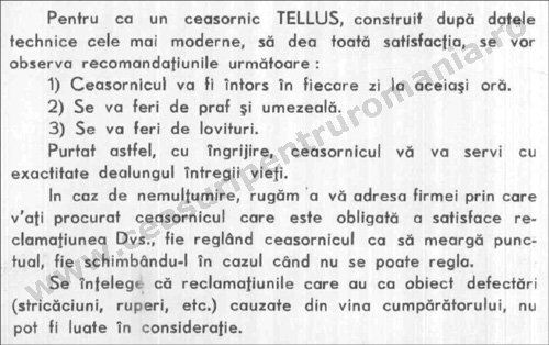 Tellus instructiuni [1938] | 2