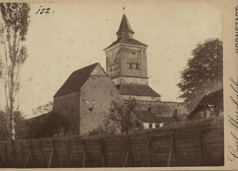 Biserica Fortificata - Maierus | foto: Carl Muschalek (1895) | sursa foto: Arhivele Nationale ale Romaniei - Brasov