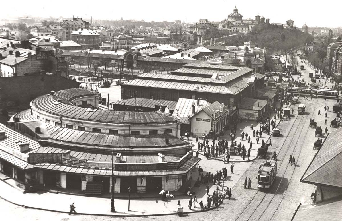 Bucuresti | Halele Centrale si Piata Bibescu Voda in 1935 | foto: Nicolae Ionescu