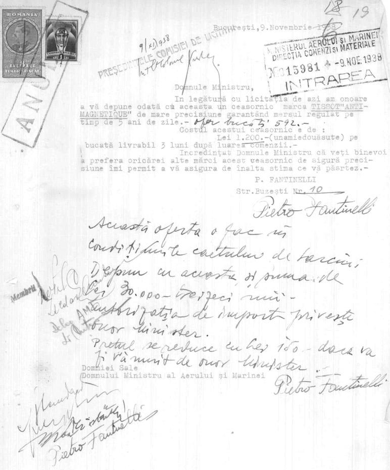 oferta Tissot Antimagnetique | licitatie MAM 1938 | Pietro Fantinelli