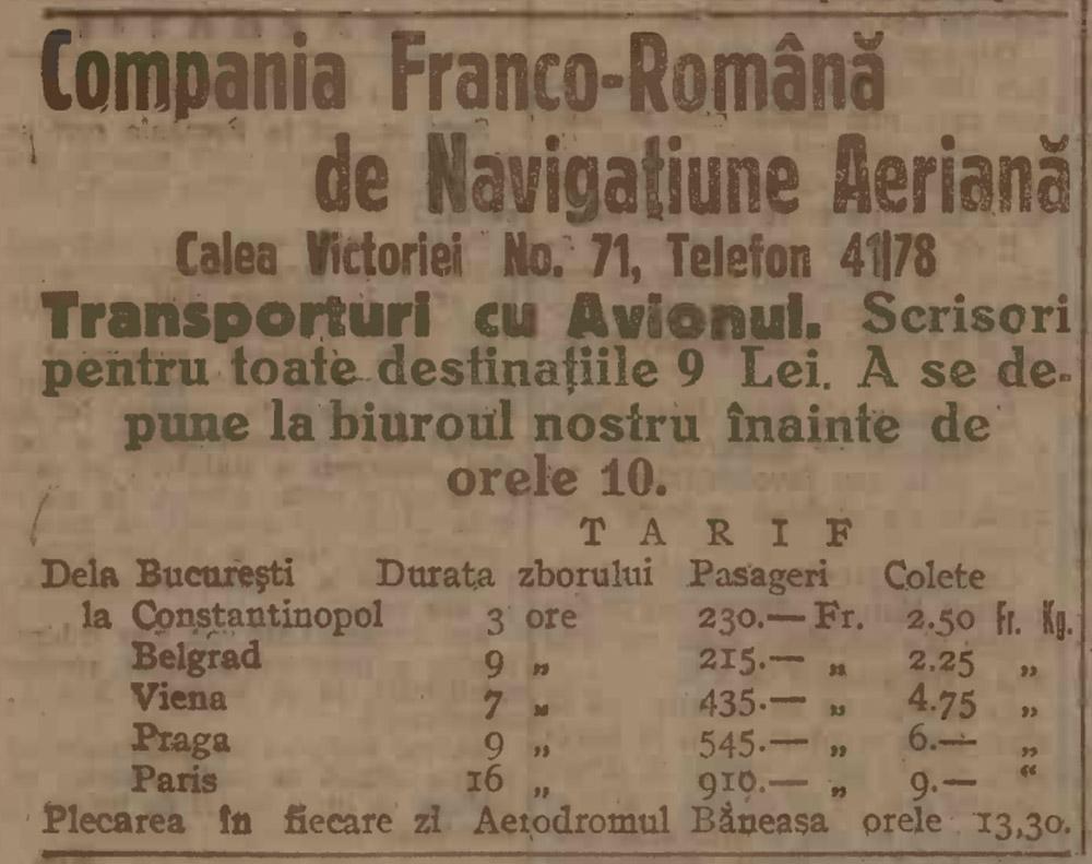 Reclama C.F.R.N.A. | Adevarul - 14.04.1923