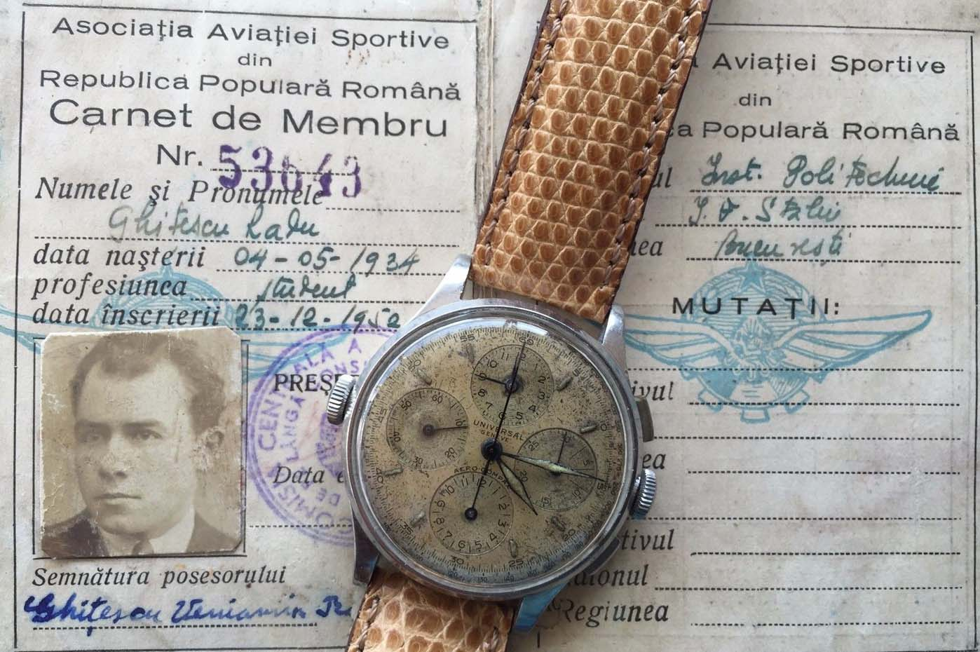 ceas Aerocompax - aviator Radu Ghitescu