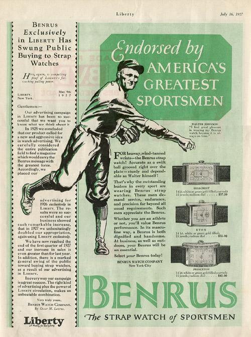 Liberty | ad Benrus | 16.iulie.1927