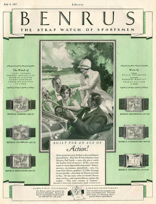 Liberty | ad Benrus | 9.iulie.1927