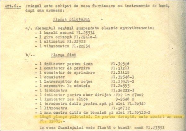 [29] Bf-109G | Lista echip. bord