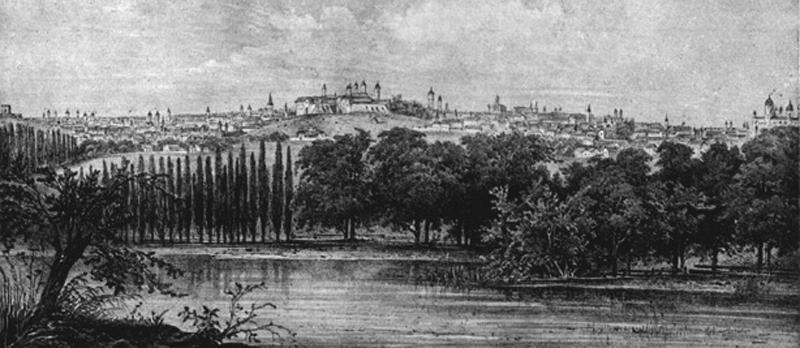 Bucuresti sec XIX | Dealul-Mitropoliei | R. Bielitz (sursa imagine - wikipedia)