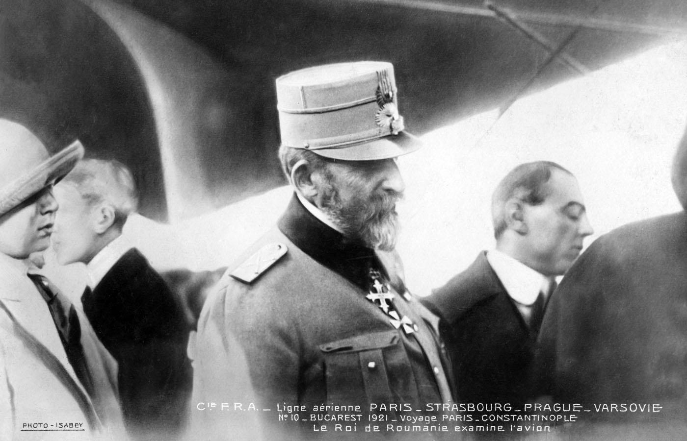 Regele Ferdinand I | aterizare Franco-Romana | Pipera-Bucuresti 20.octombrie.1921