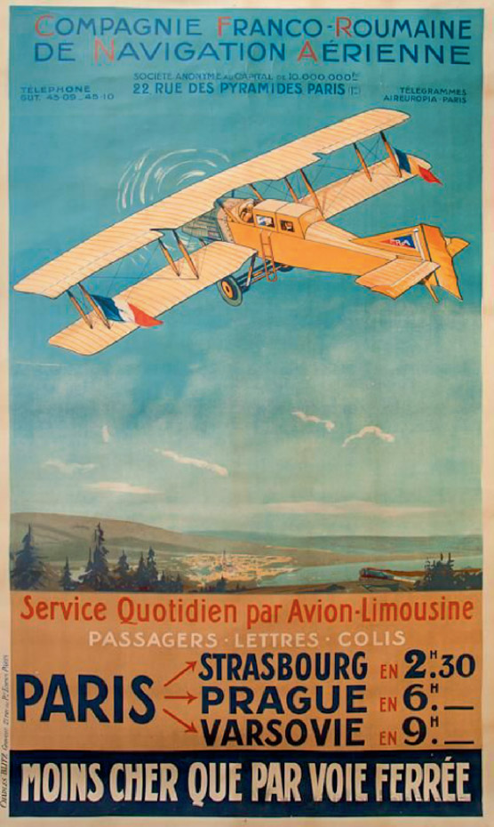 Compania Franco-Romana de Navigatie Aeriana | afis 1921