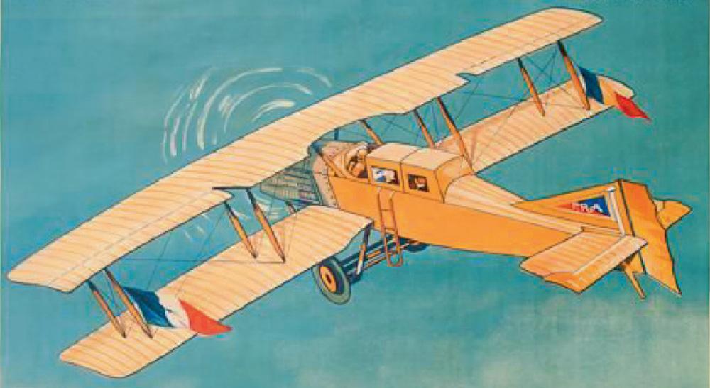 Compania Franco-Romana de Navigatie Aeriana | afis 1921 (detaliu)