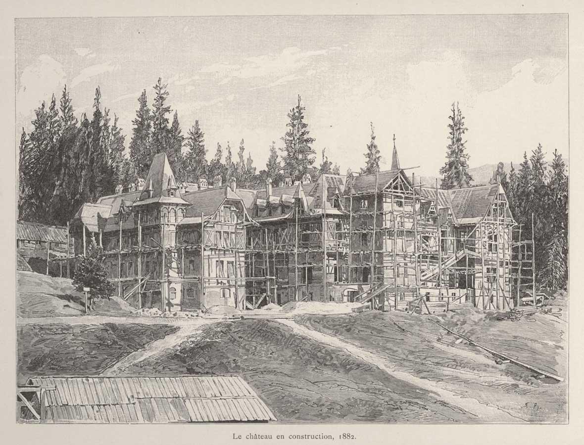 Castelul Peles in constructie | 1882