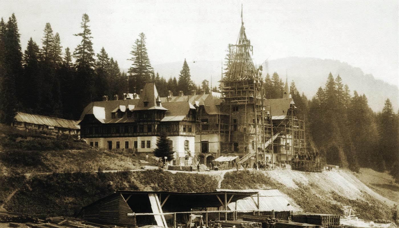 Castelul Peles in constructie | 1883