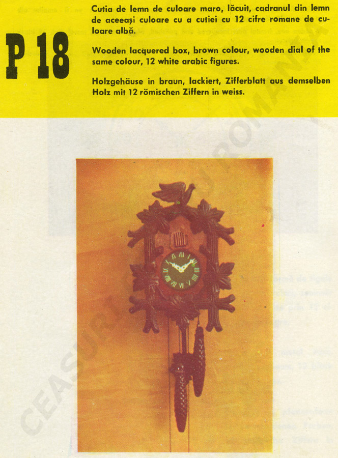 catalog Aradora | model P18
