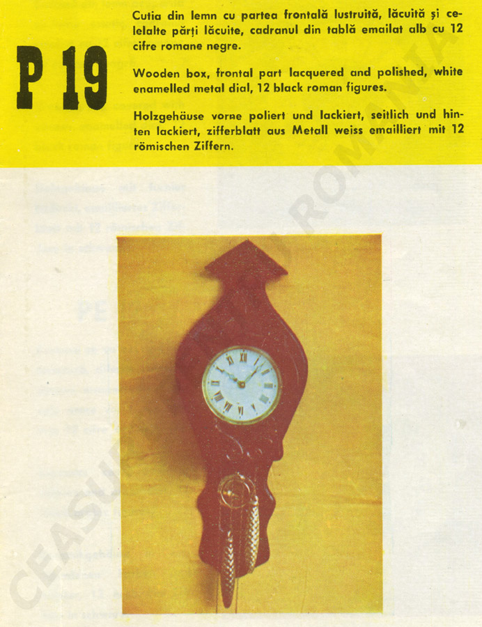 catalog Aradora | model P19
