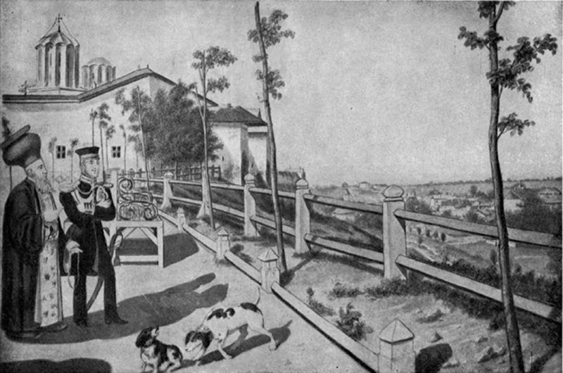 Dealul Mitropoliei | Bucuresti - 1832 | N. Barabas (sursa imagine - wikipedia)