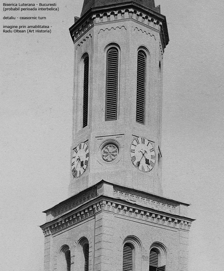 Biserica Luterana - Bucuresti (probabil perioada interbelica) - imagine prin amablitatea - Radu Oltean (Art Historia)