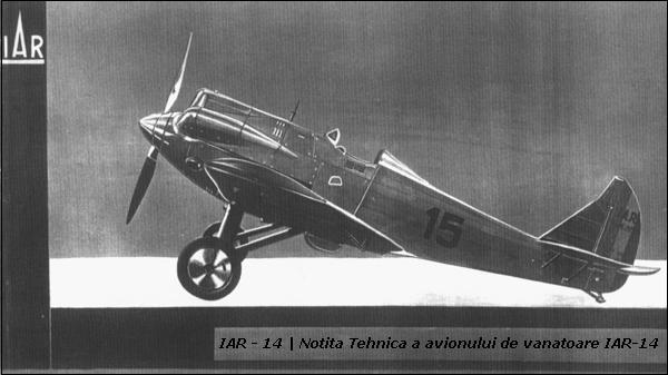 IAR-14 | cf. Notita Tehnica