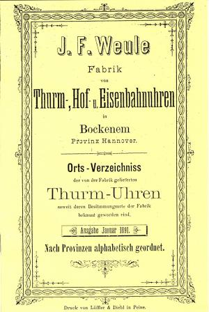 catalog J. F. Weule [1891]