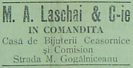 reclama M.A. Laschai & Cie - Ploiesti