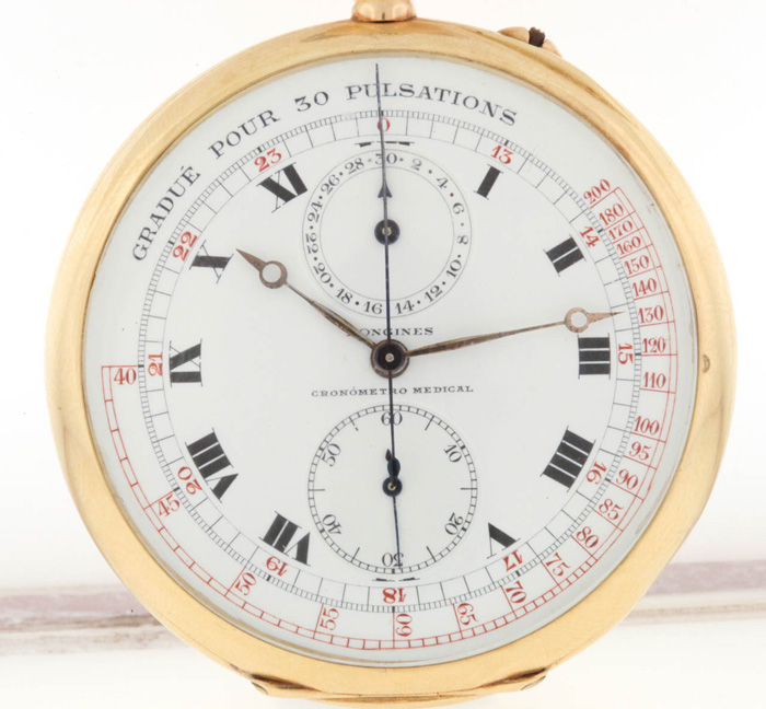 "Longines cal. 19.73N | cronograf - ""pulsometru"""