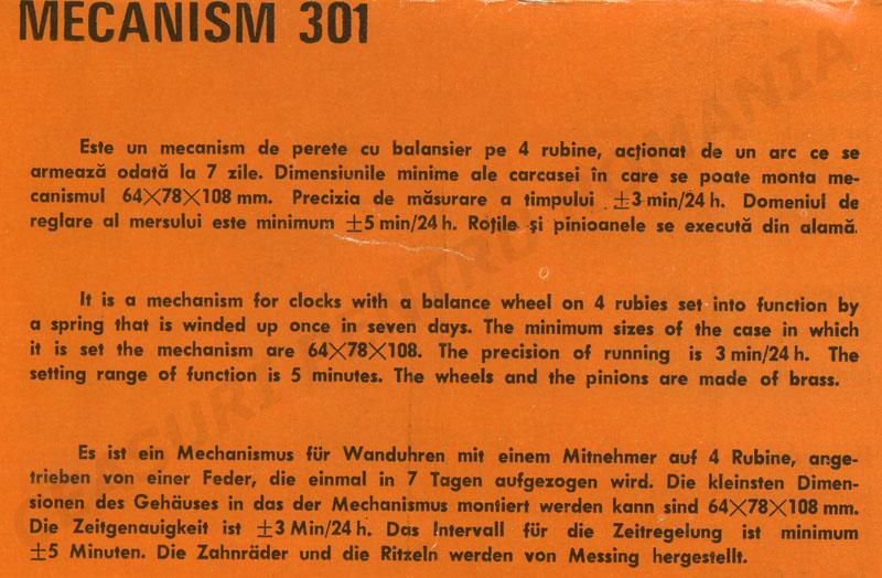catalog Aradora | mecanism 301