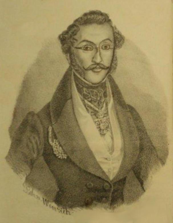 Mihail D. Ghica | mare ban si vornic | gravura - 1838 [sursa imagine - wikipedia]