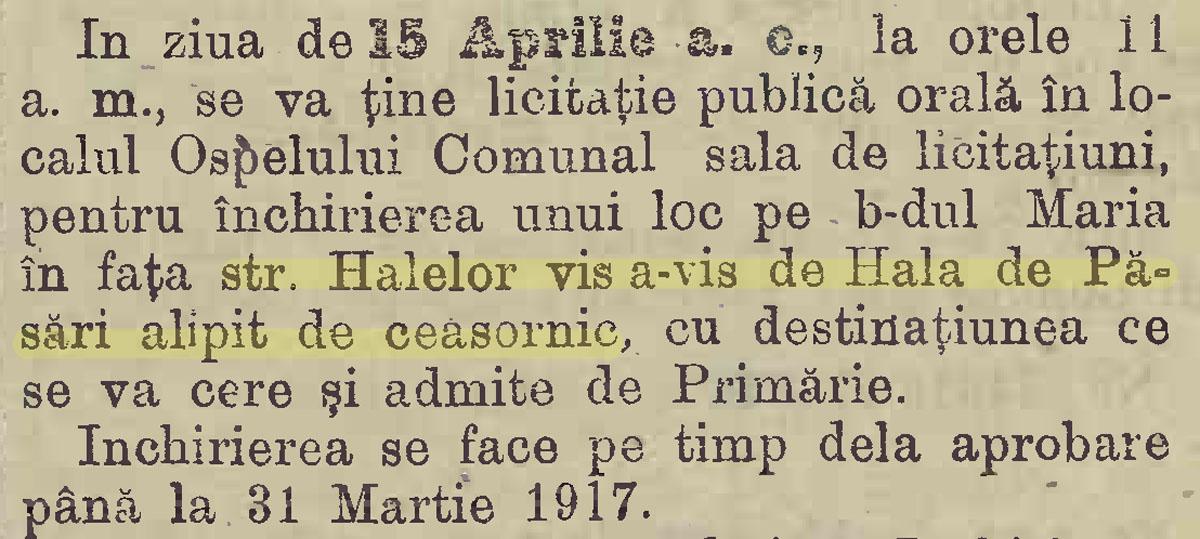 """""""Monitorul Comunal al Primariei Bucuresci"""" (an XIX / nr. 15 / 12 aprilie 1915"""