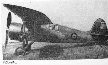 [4] PZL-24E (1937)