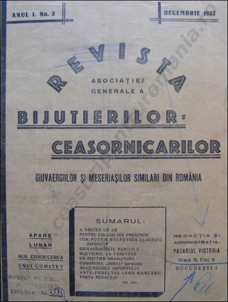 Revista Ceasornicarilor | 3-1937
