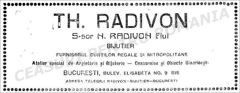 Reclama Nicolae Radivon - succesor | Anuarul Socec | 1925-1926