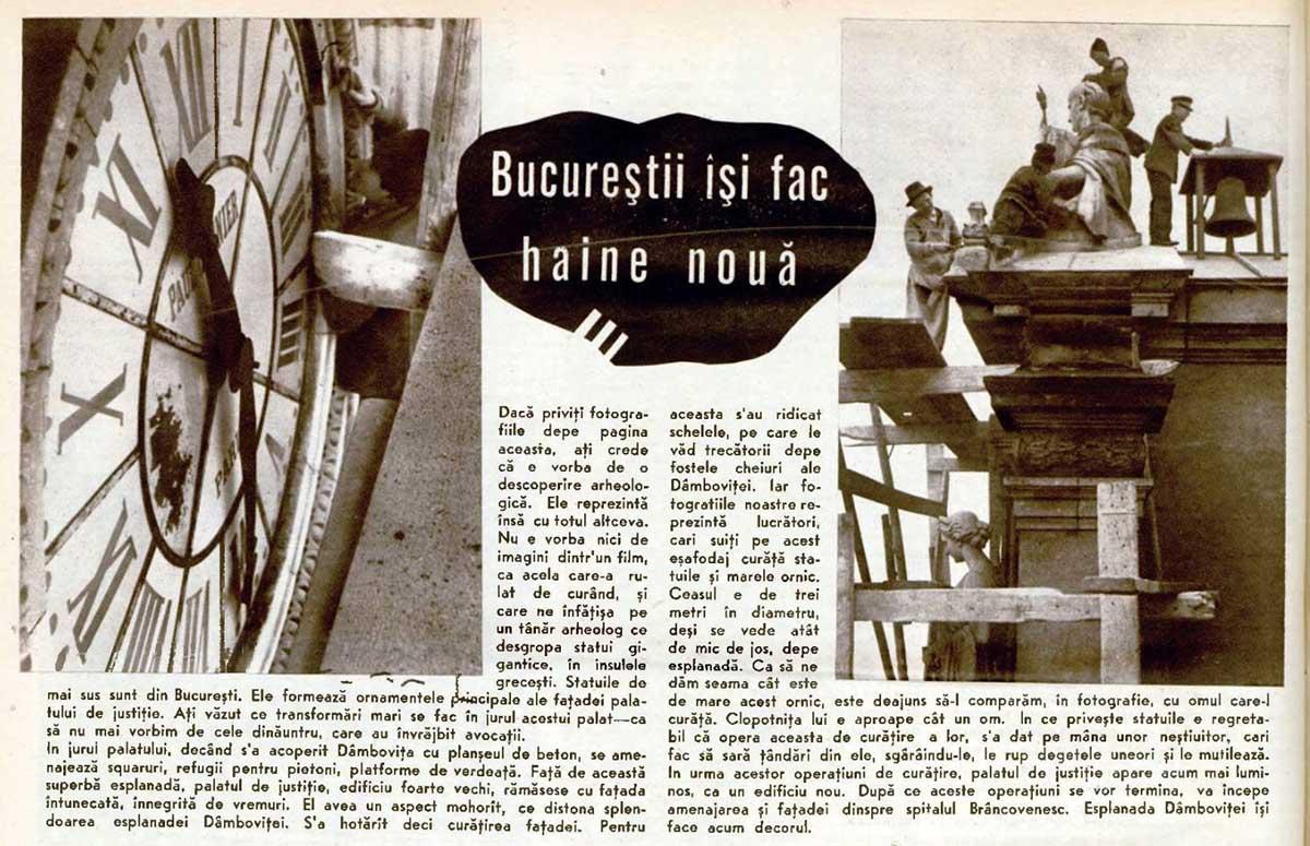 Realitatea Ilustrata | Palatul de Justitie - Bucuresti | 1936