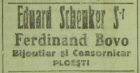reclama Eduard Schenker Sr - Ploiesti