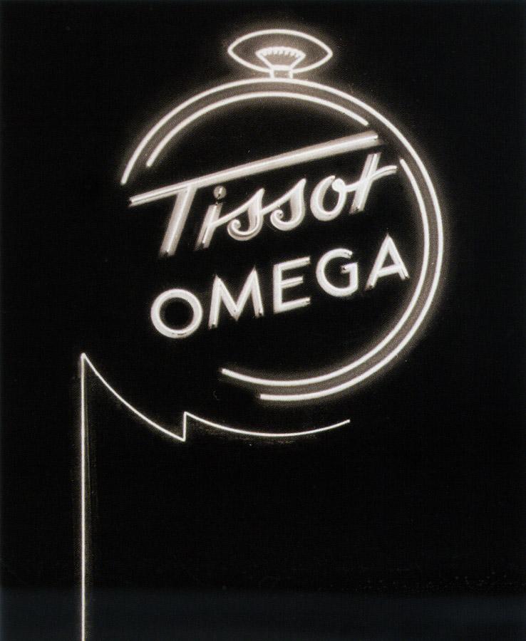 reclama neon Tissot - Omega | anii '940