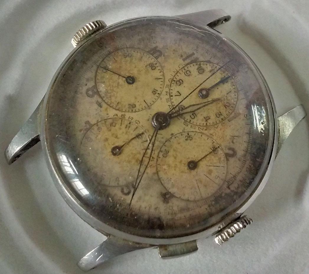 Universal Geneve - AeroCompax (1942) | ceasul a apartinut aviator Alexandru Voinov (colectia Muzeului national al Aviatiei Romane)