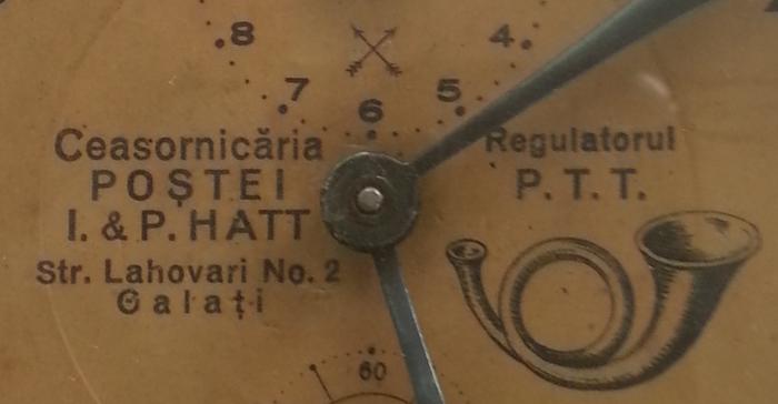 Ceasornicaria Postei | I & P. Hatt | Regulatorul P.T.T. | str. Lahovari nr. 2 Galati