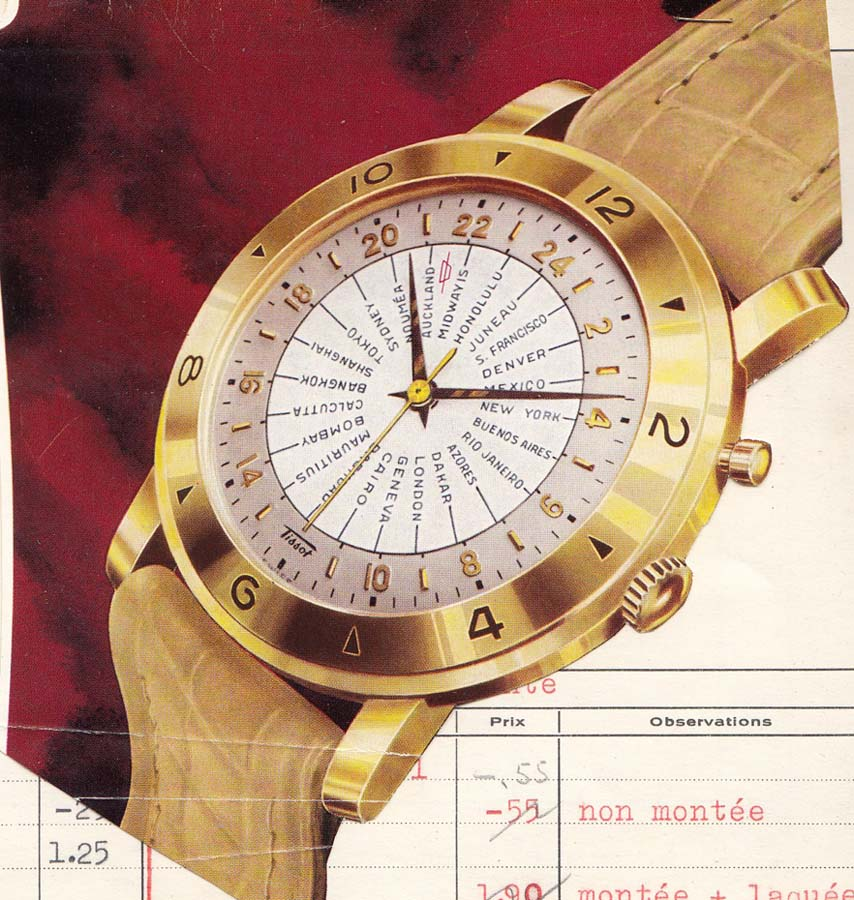 material promotional Tissot Navigator | 1951 (sursa imagine - Arhivele Istorice Tissot)