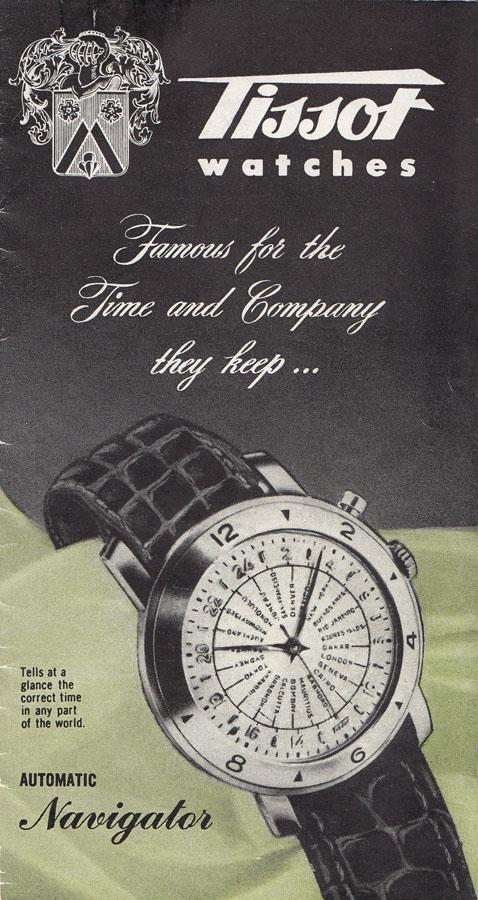 reclama Tissot Navigator | 1953 (sursa imagine - Arhivele Istorice Tissot)