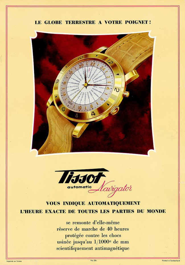 reclama Tissot Navigator | 1951 (sursa imagine - Arhivele Istorice Tissot)