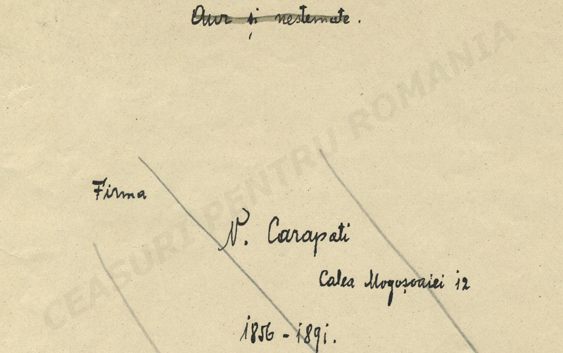 """Aur si nestemate"" | fascicula I (1856-1891)"
