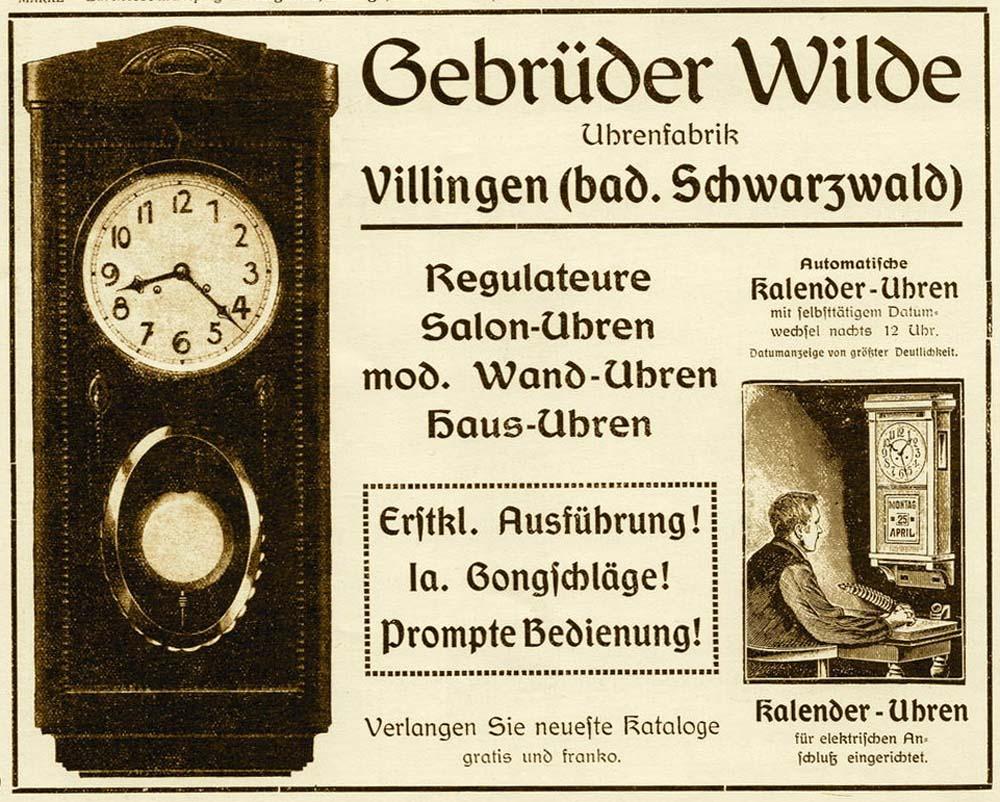 Gebrüder Wilde | reclama 1913