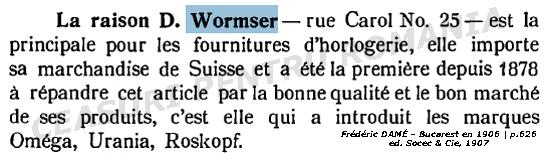 """D. Wormser in """"Bucurestii la 1906"""" - Frederic Dame"""
