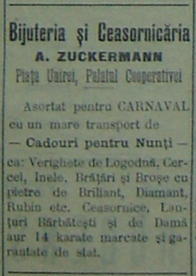 reclama A. Zuckermann - Ploiesti