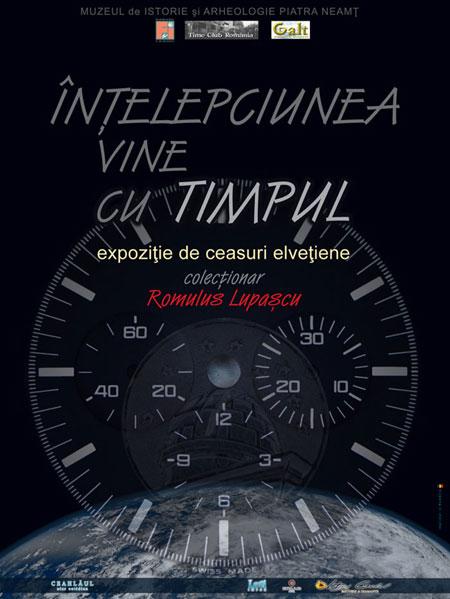 Afis expozitie | Inteleciunea vine cu timpul | Piatra-Neamt 2012