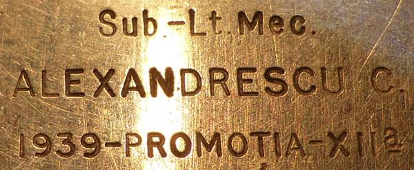 Longines promotia 1939 cal. 25.17 | C. Alexandrescu