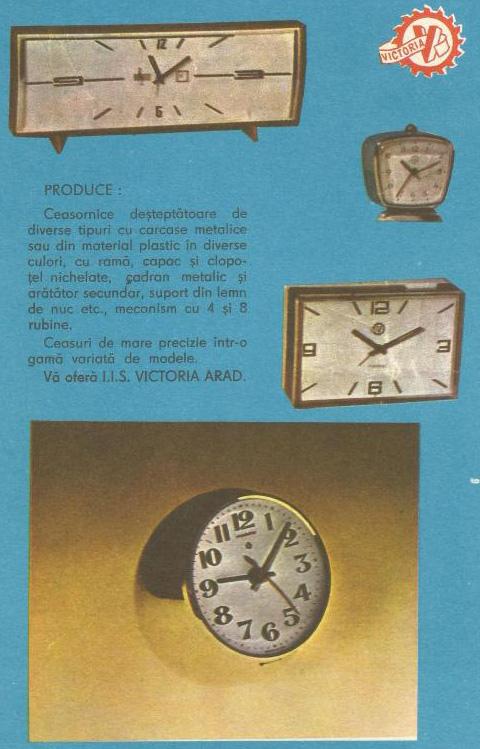 reclama Victoria Arad | 1977 (almanahul Filatelic)