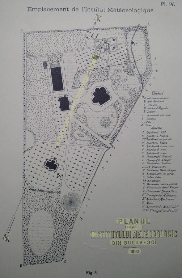 Plan de Situatie | Institutul Meteorologic al Romaniei | 1893