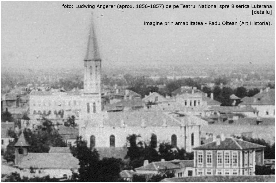 Biserica Luterana | foto: Ludwig Angerer (1856-1857) - detaliu