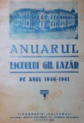 Anuarul Liceului Lazar - Bucuresti [1940]