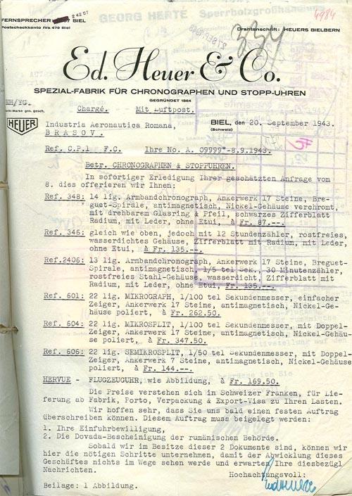 Heuer | I.A.R. / sept. 1943