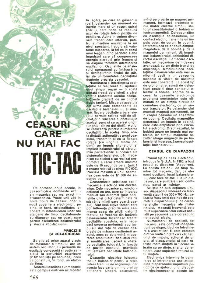 Almanah Stiinta si Tehnica | Ceasuri pas-cu-pas | 1971